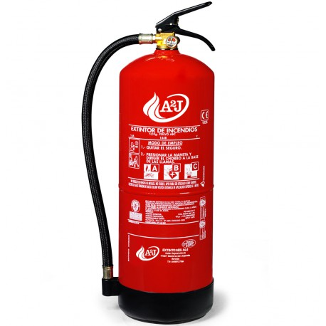 Extintor de polvo ABC de 12 kg