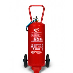 Extintor de polvo ABC de 25 kg sobre rueda