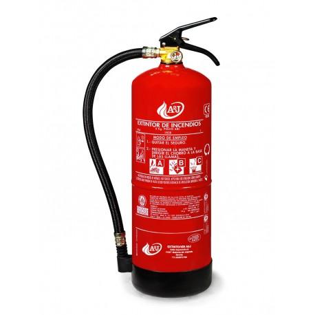 Extintor de polvo ABC de 6 kg ALTA EFICACIA 34A 233B (Homologado para tensiones electricas de hasta 50.000V).