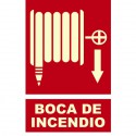 Señal de Boca de Incendio poliestireno fotoluminiscente 297x210