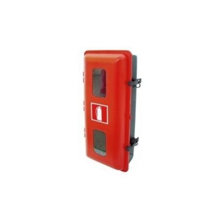 Armario de PVC-ABS TERMOCONFORMADO para extintor de polvo 12 kg ó 5 kg CO2 doble mirilla rectangular
