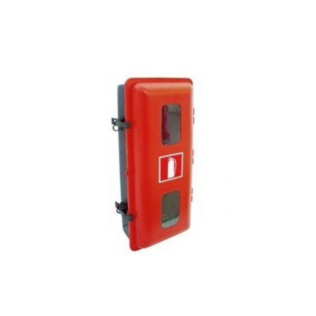 Armario de PVC-ABS TERMOCONFORMADO para extintor de polvo 6/9 kg polvo ó 2 kg CO2 doble mirilla rectangular
