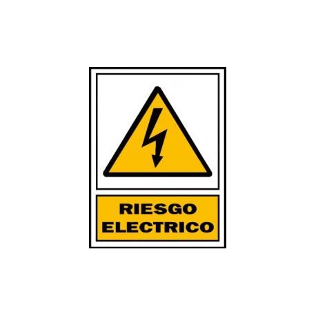 Señal de Peligro riesgo eléctrico poliestireno blanco 297x210