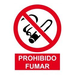 Señal de Prohibido fumar poliestireno blanco 297x210