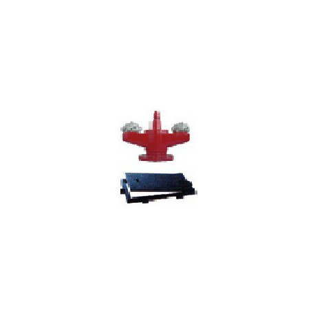 """Hidrante bajo rasante de 4"""" (DN100) con 2 salidas de 70 mm (racores + tapónes Barcelona) con cerco y tapa incluido."""