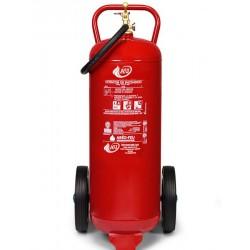 Extintor de polvo ABC de 50 Kg sobre ruedas