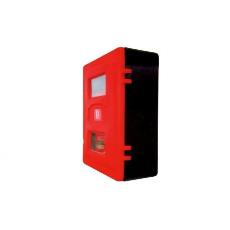 Armario de polietileno para 2 extintores de polvo con mirilla