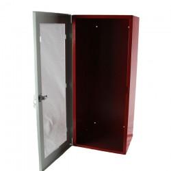 Armario metálico extintor CO2 con puerta y cerradura + Metacrilato rompible