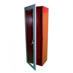 Armario metálico para extintor polvo 6-9 kg. con puerta y cerradura + Metacrilato rompible